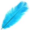 "Ostrich Drab Feathers 9-10"" Premium Quality Turquoise"